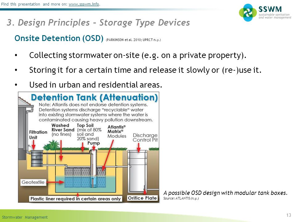 Onsite Detention (OSD) (PARKINSON et al. 2010; UPRCT n.y.)