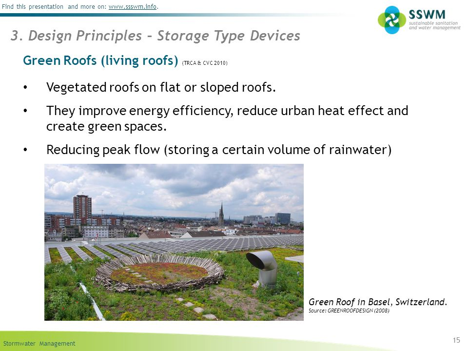 Green Roofs (living roofs) (TRCA & CVC 2010)