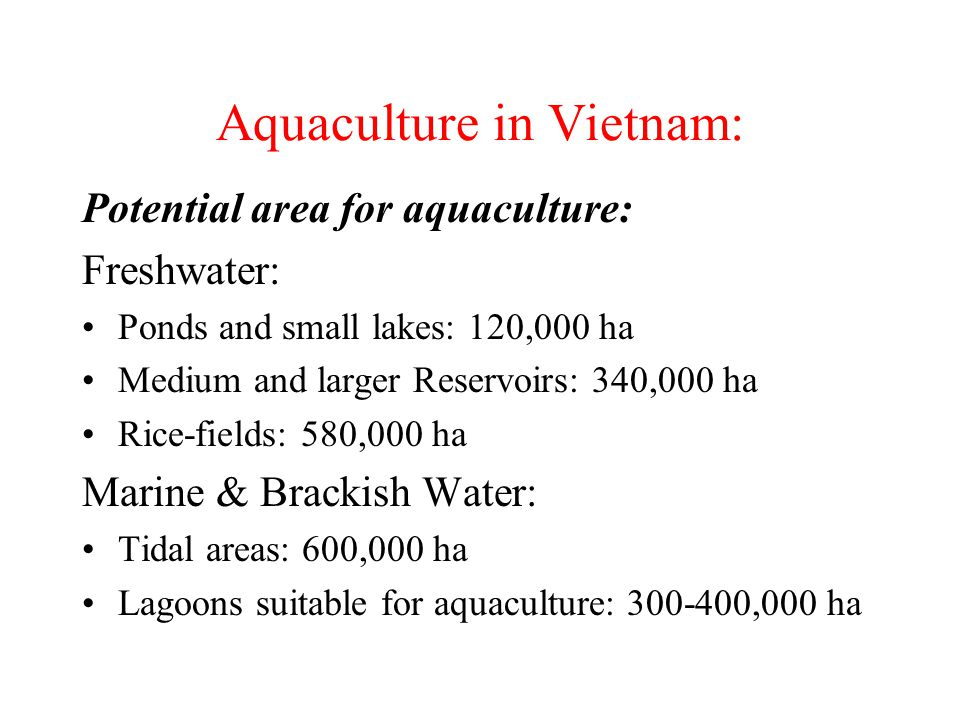 Aquaculture in Vietnam: