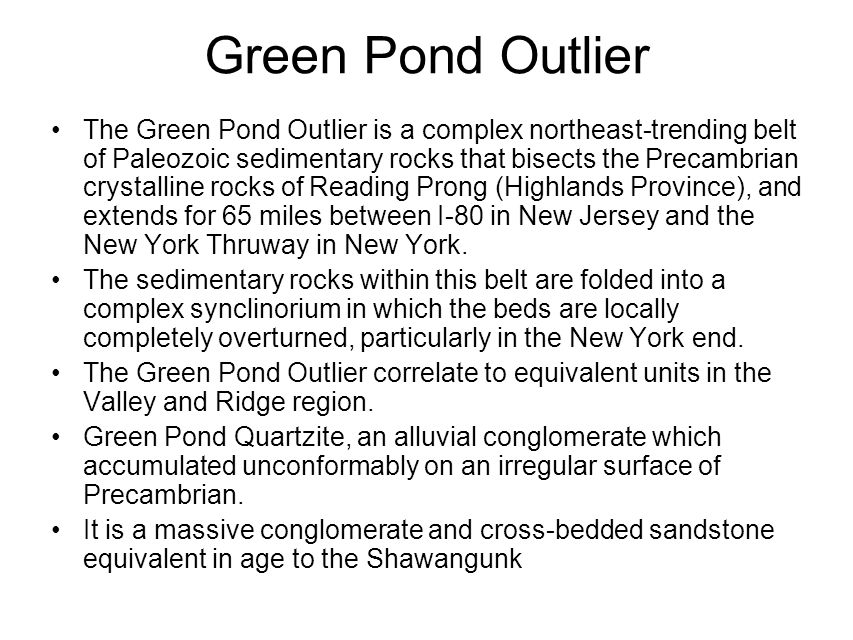 Green Pond Outlier