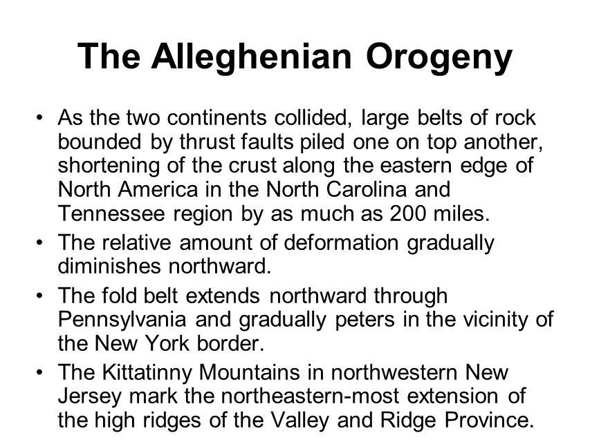 The Alleghenian Orogeny