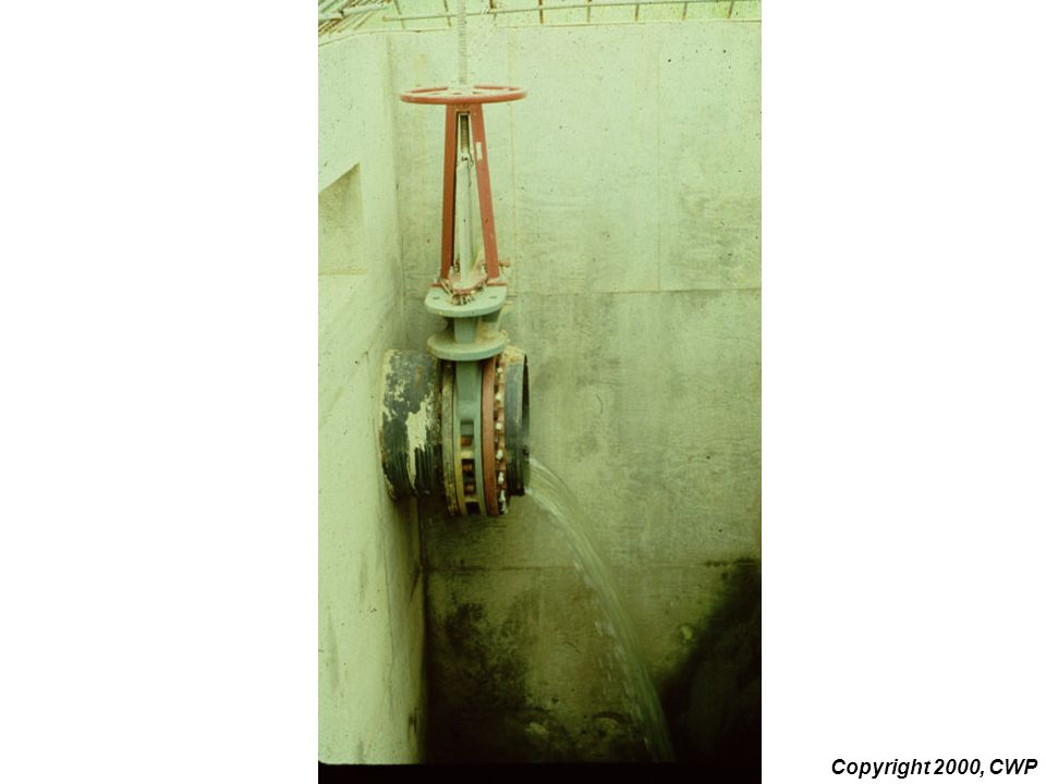 This slide shows a gate valve on an ED pipe on the inside of a riser.