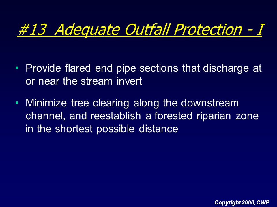 #13 Adequate Outfall Protection - I