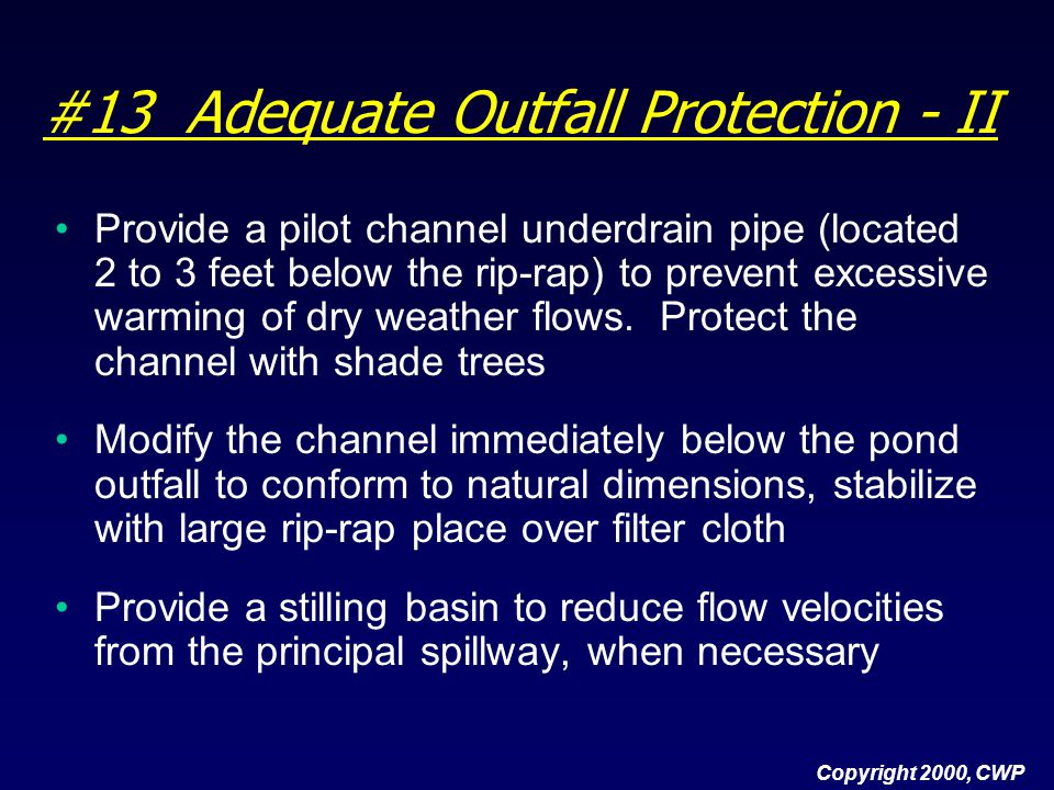 #13 Adequate Outfall Protection - II