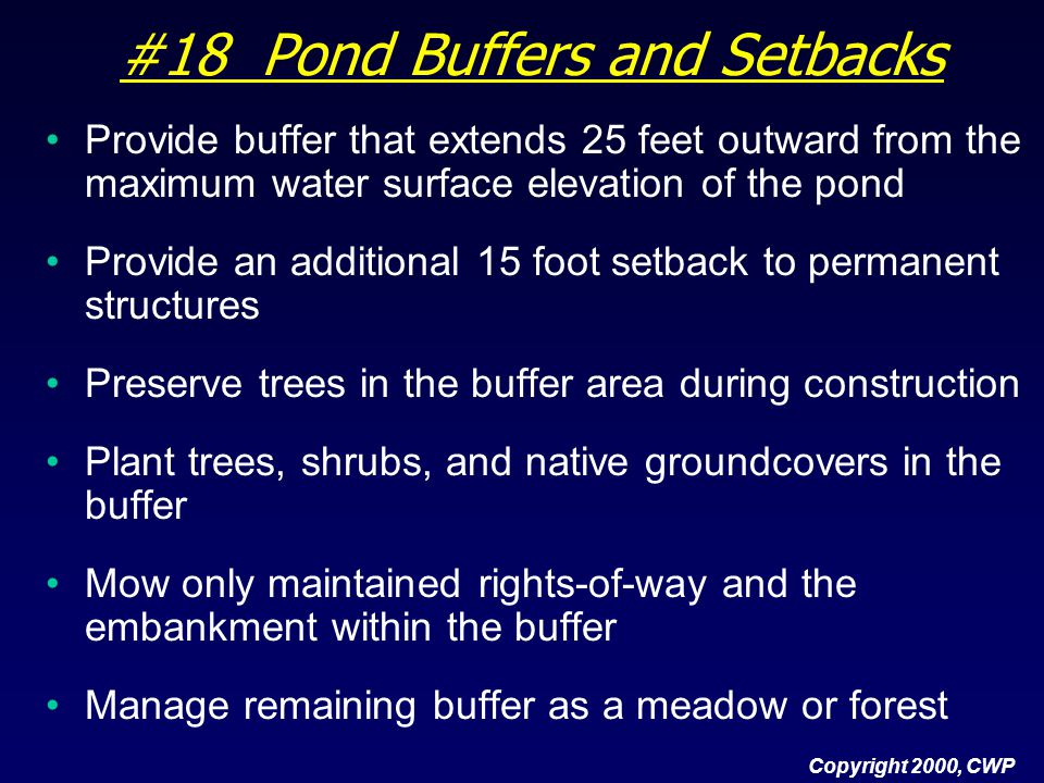 #18 Pond Buffers and Setbacks