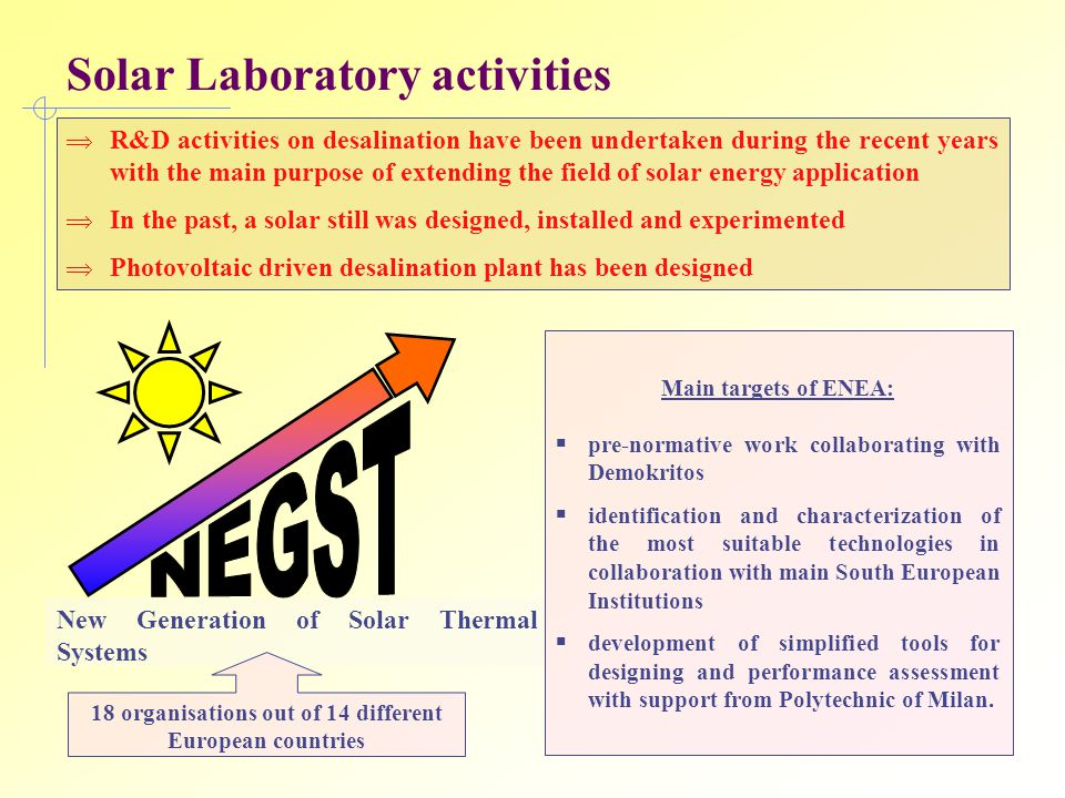Solar Laboratory activities