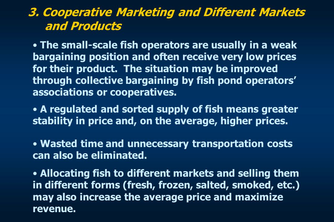 3. Cooperative Marketing and Different Markets and Products