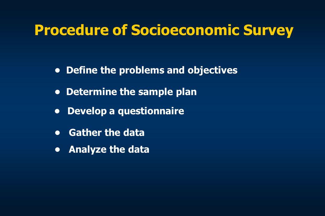 Procedure of Socioeconomic Survey