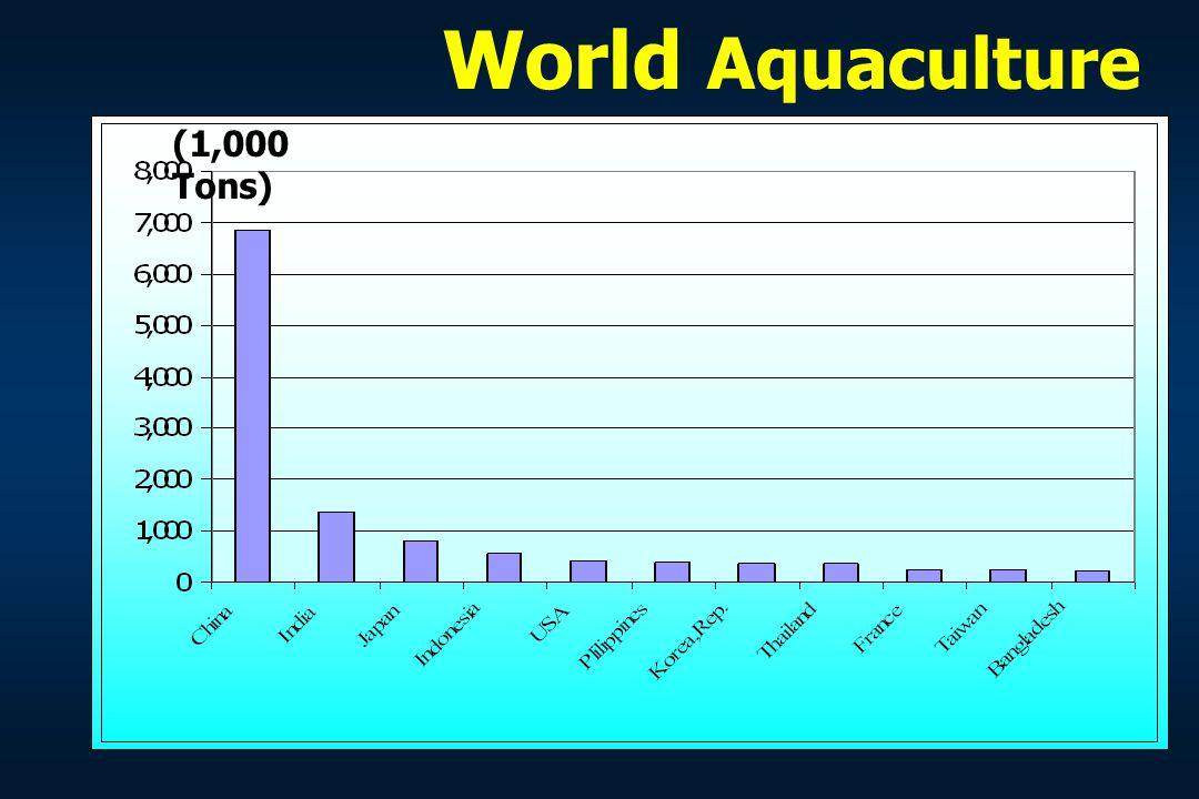 World Aquaculture (1,000 Tons)