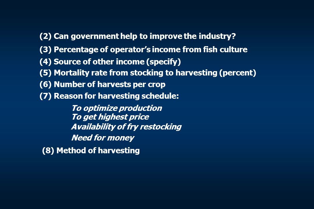 (2) Can government help to improve the industry