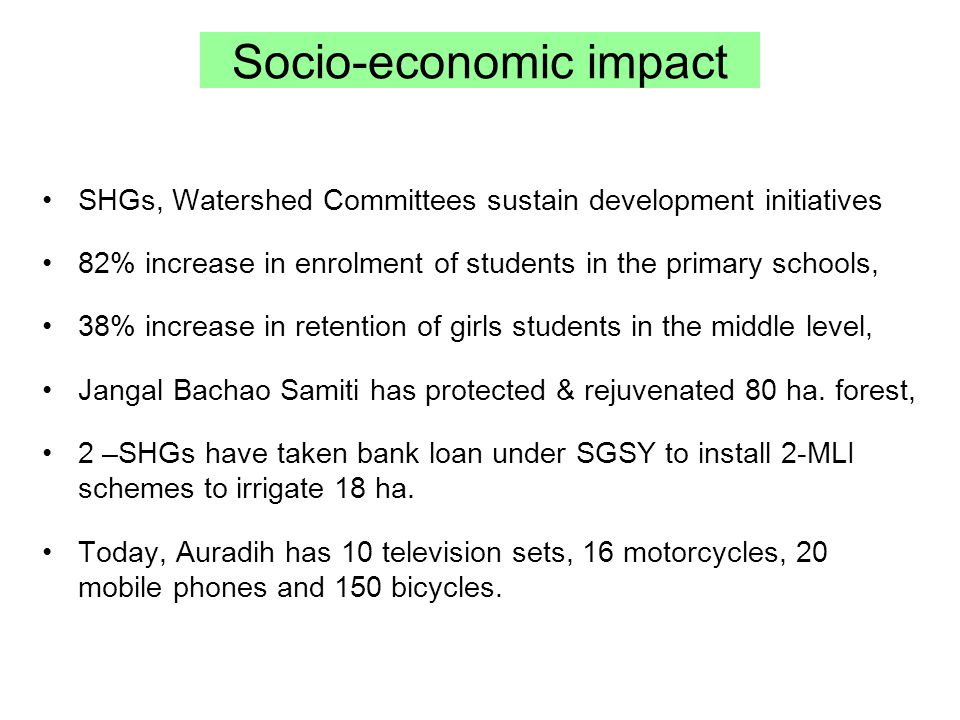 Socio-economic impact