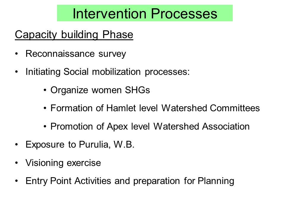 Intervention Processes