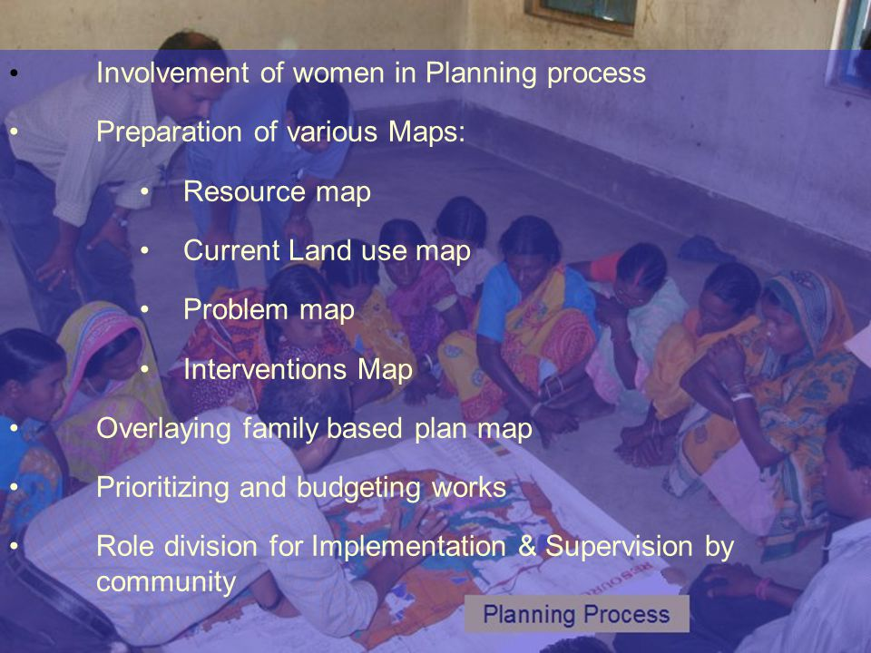 Involvement of women in Planning process