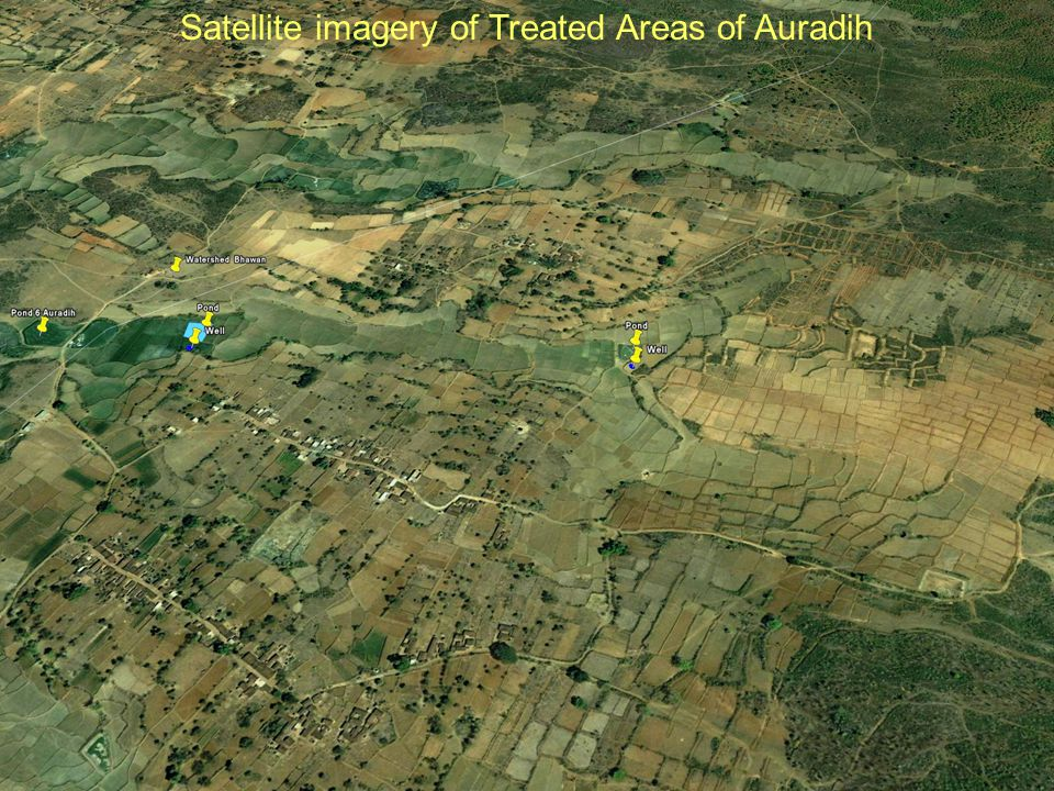 Satellite imagery of Treated Areas of Auradih