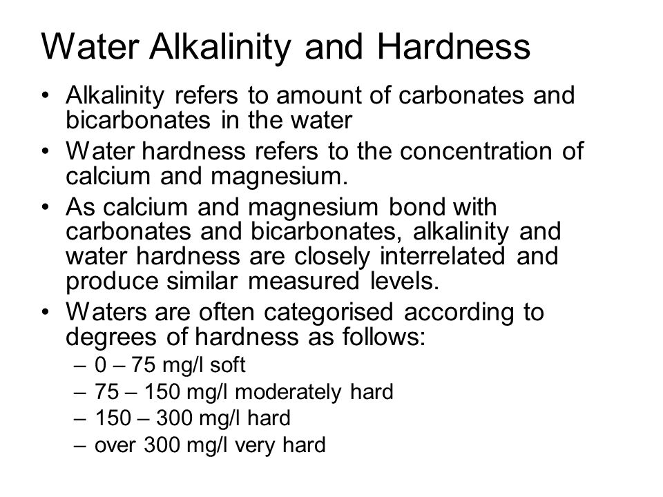 Water Alkalinity and Hardness