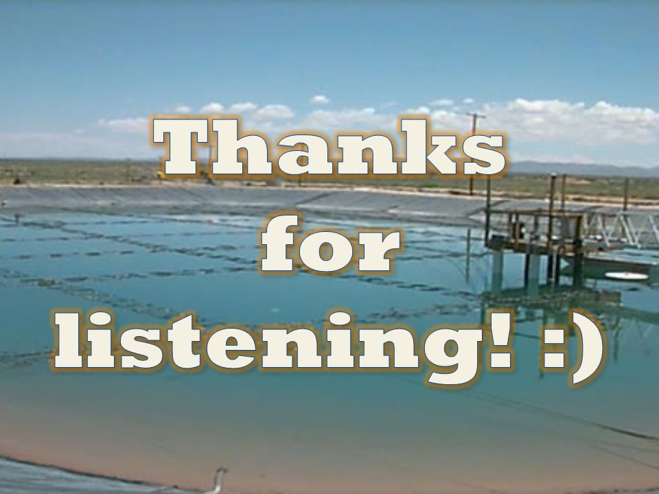 Thanks for listening! :)
