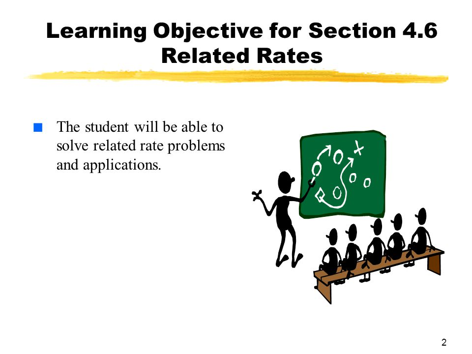 Learning Objective for Section 4.6 Related Rates