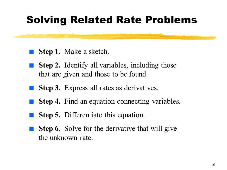 Solving Related Rate Problems
