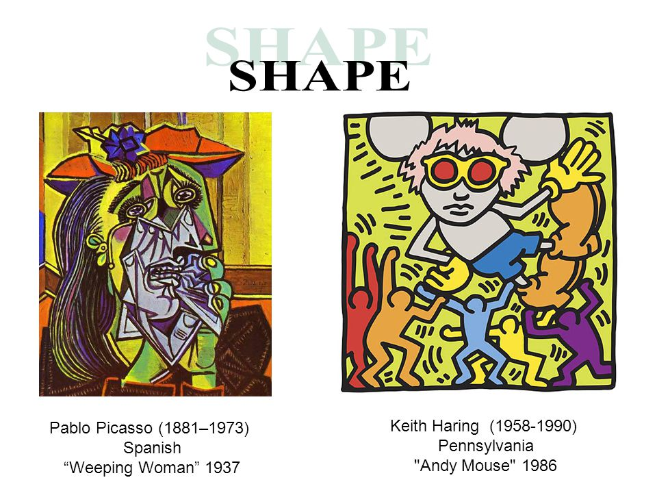 SHAPE Keith Haring (1958-1990) Pablo Picasso (1881–1973) Pennsylvania