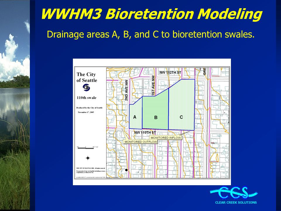 WWHM3 Bioretention Modeling