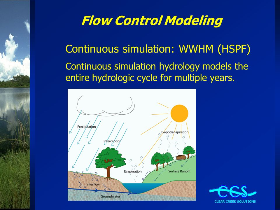 Flow Control Modeling Continuous simulation: WWHM (HSPF)