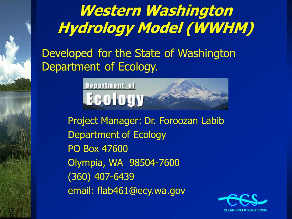 Western Washington Hydrology Model (WWHM)