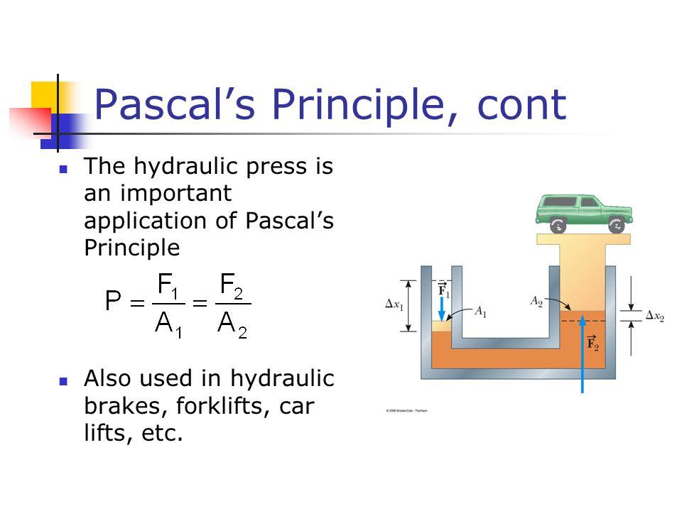 Pascal's Principle, cont