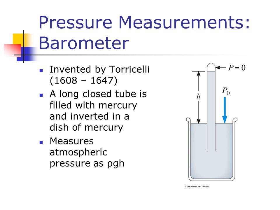 Pressure Measurements: Barometer
