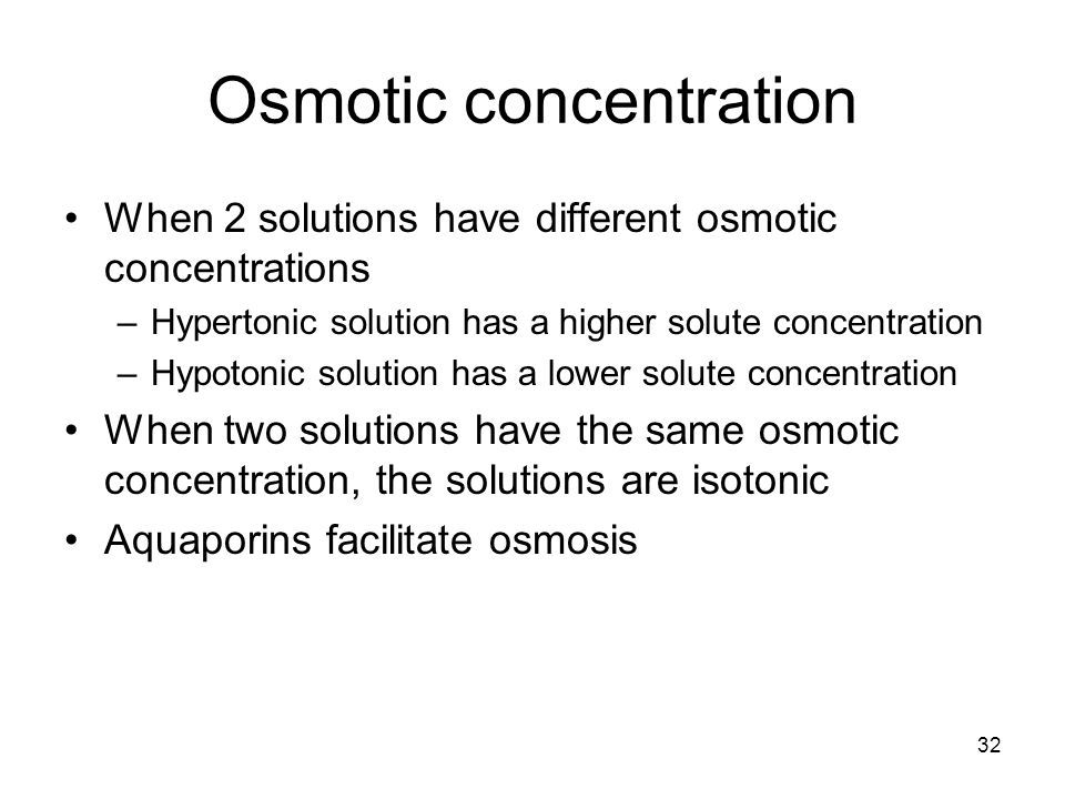 Osmotic concentration