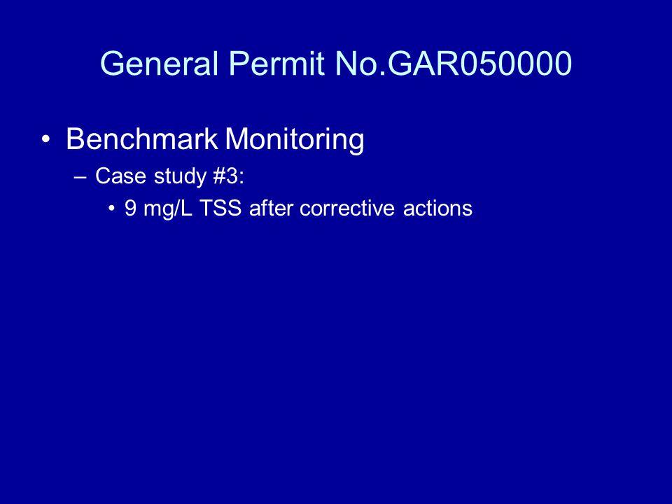 General Permit No.GAR050000 Benchmark Monitoring Case study #3: