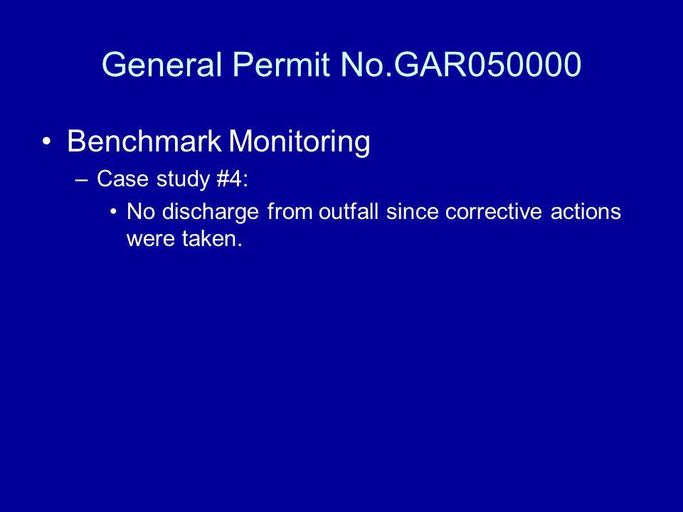 General Permit No.GAR050000 Benchmark Monitoring Case study #4: