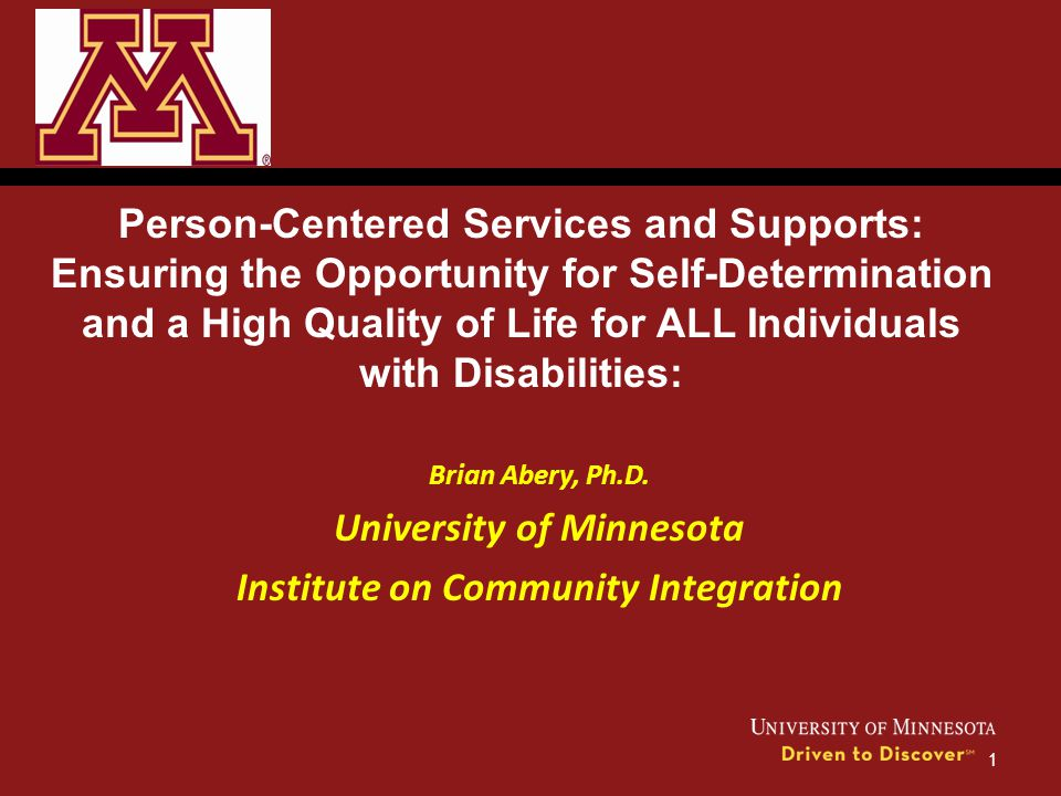 University of Minnesota Institute on Community Integration