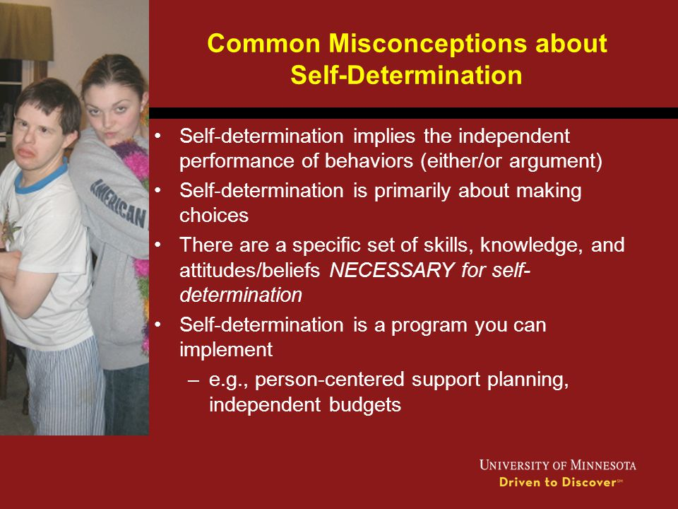 Common Misconceptions about Self-Determination