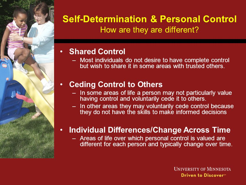 Self-Determination & Personal Control How are they are different