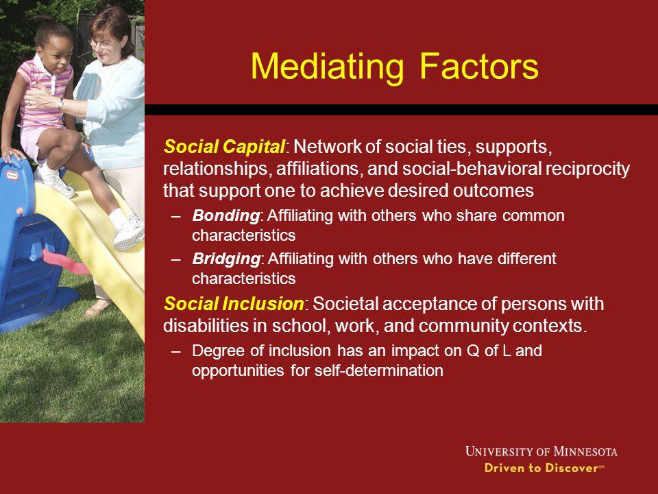Mediating Factors