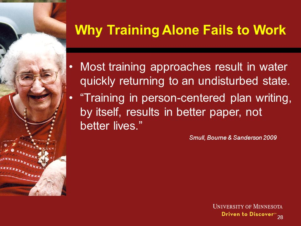 Why Training Alone Fails to Work