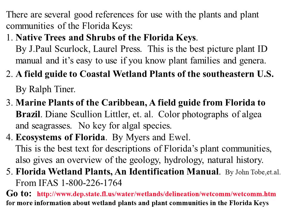 There are several good references for use with the plants and plant