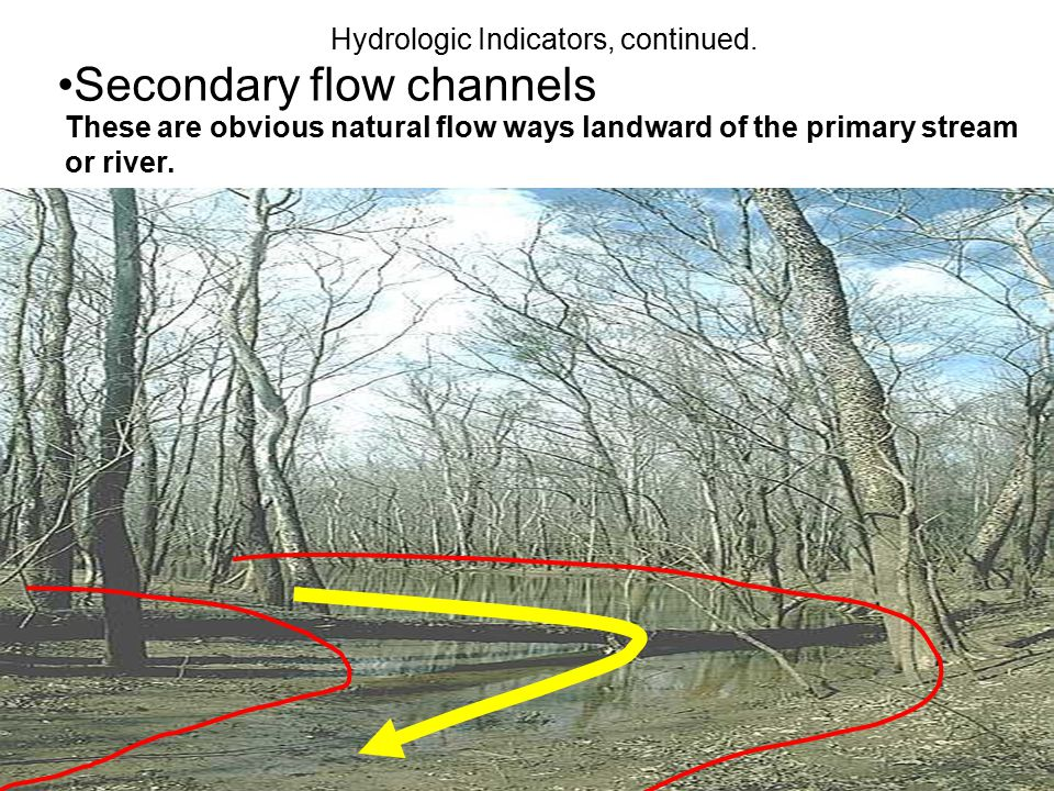 Secondary flow channels