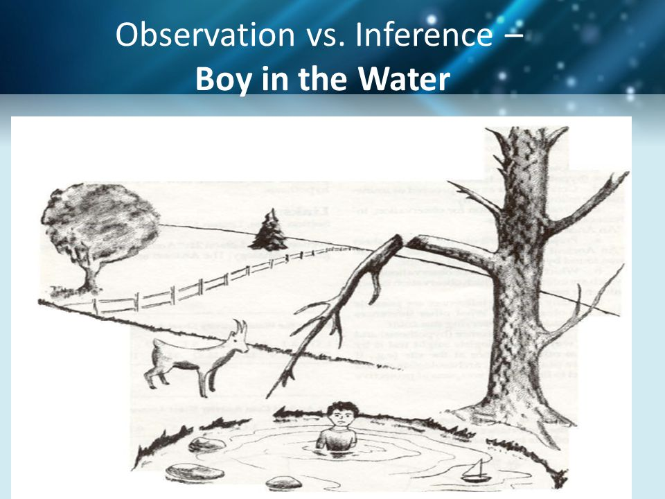 Observation vs. Inference – Boy in the Water
