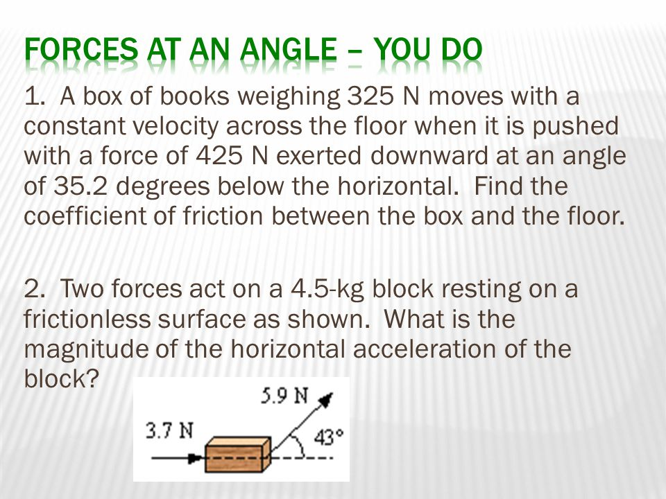 Forces at an angle – You Do