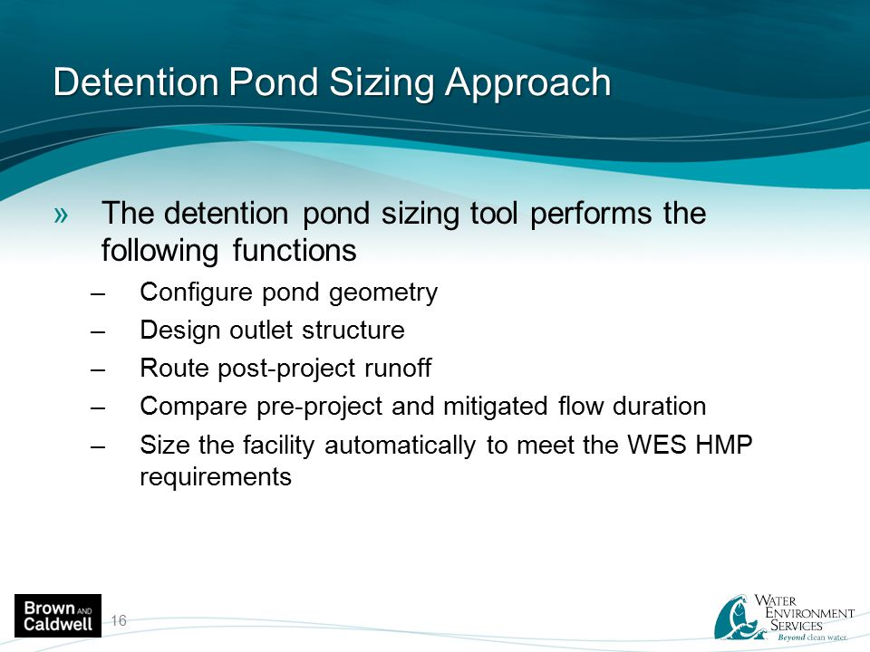 Detention Pond Sizing Approach