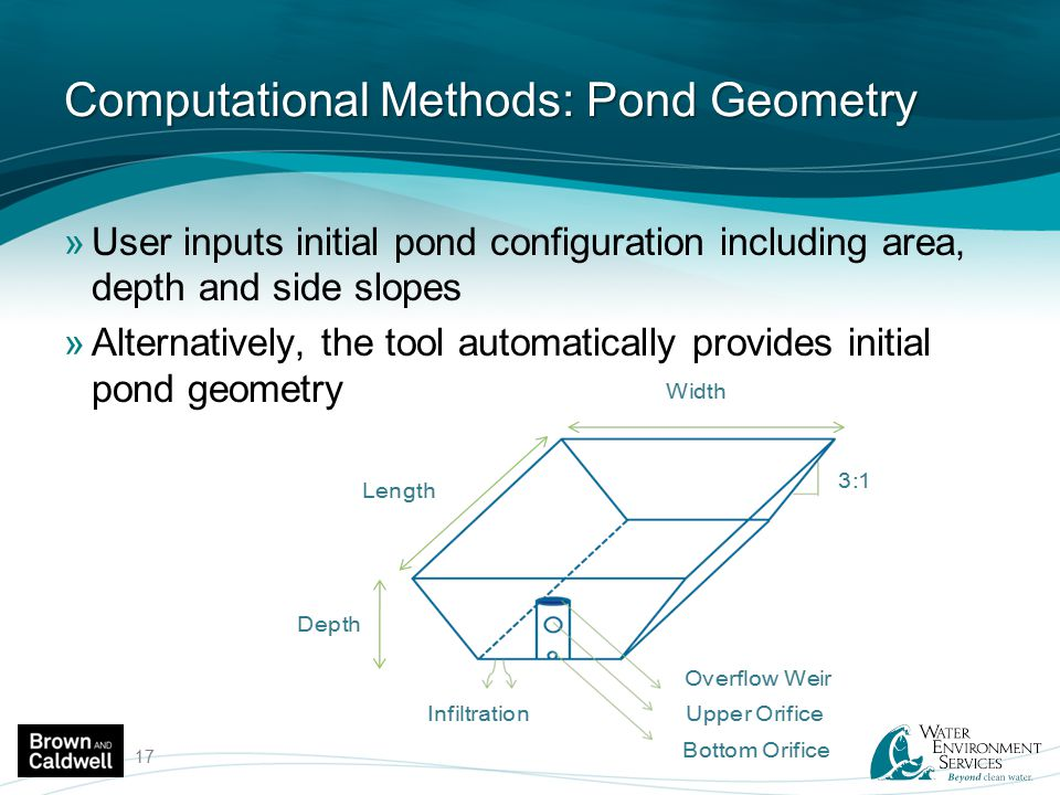Computational Methods: Pond Geometry
