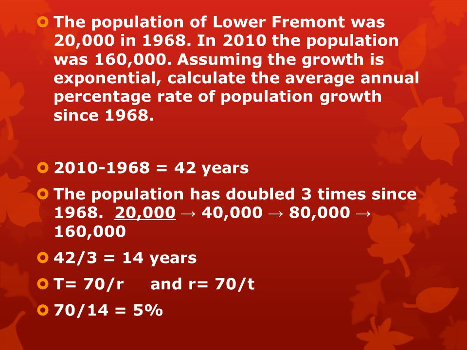 The population of Lower Fremont was 20,000 in 1968
