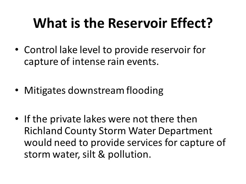 What is the Reservoir Effect