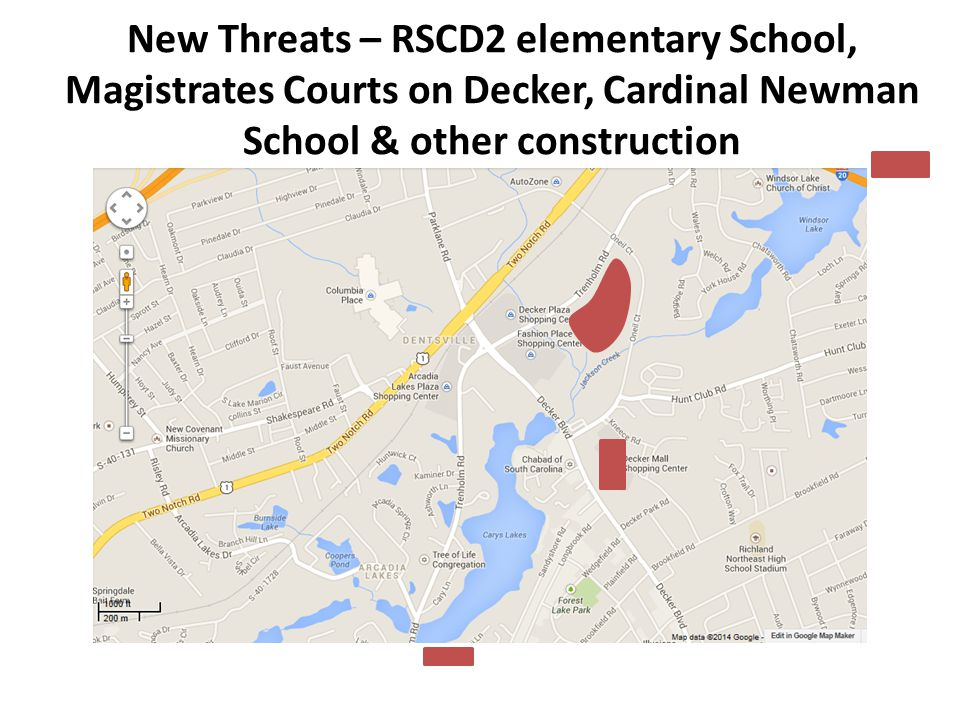 New Threats – RSCD2 elementary School, Magistrates Courts on Decker, Cardinal Newman School & other construction