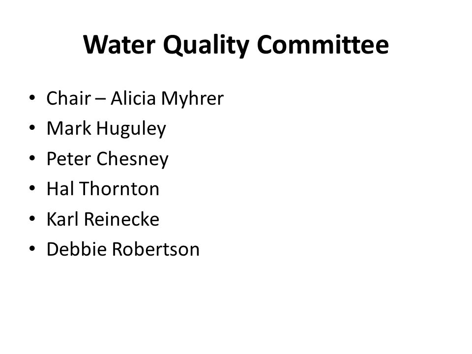 Water Quality Committee