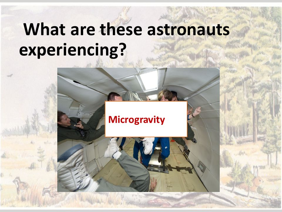 What are these astronauts experiencing