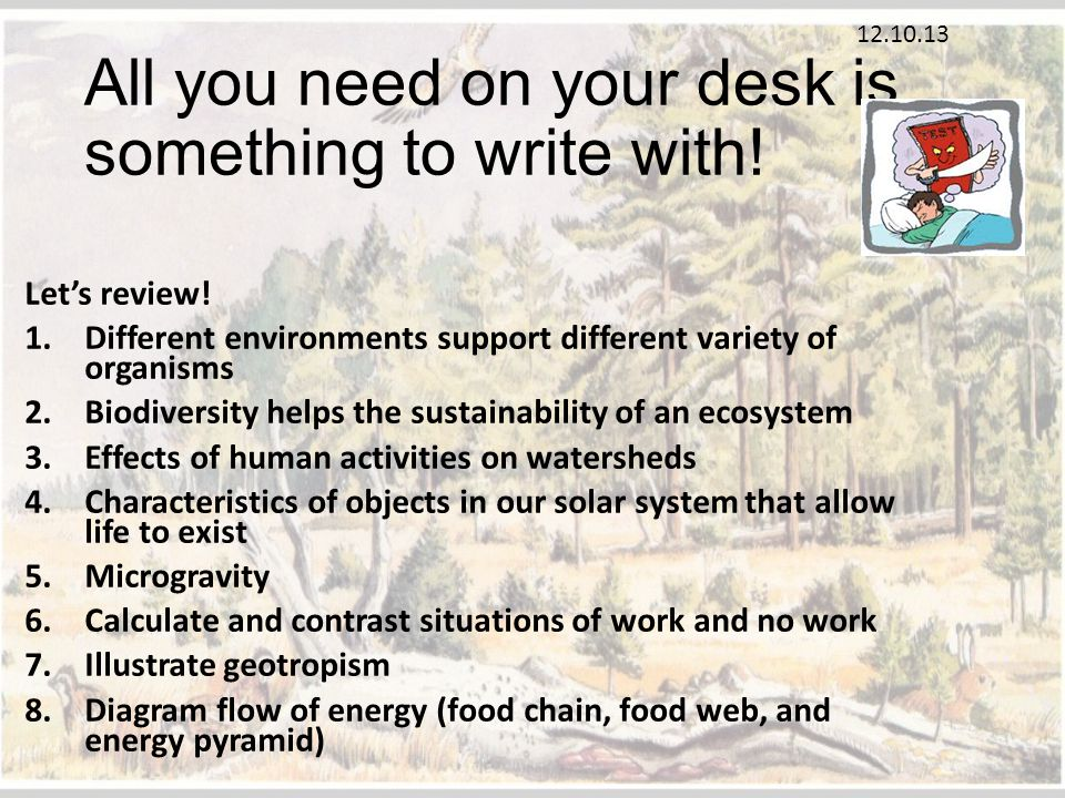 All you need on your desk is something to write with!