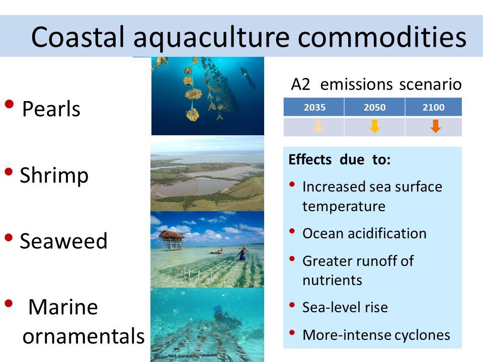 Coastal aquaculture commodities