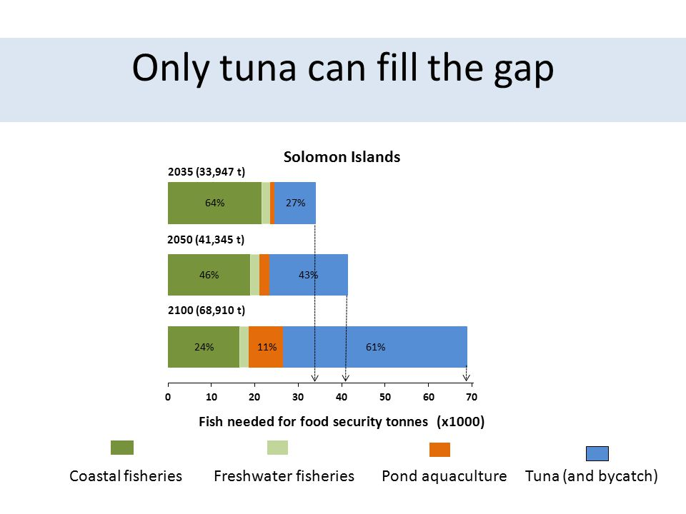 Only tuna can fill the gap